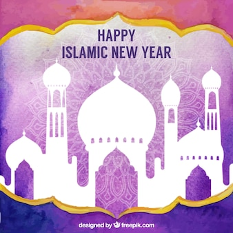 Islamic new year background