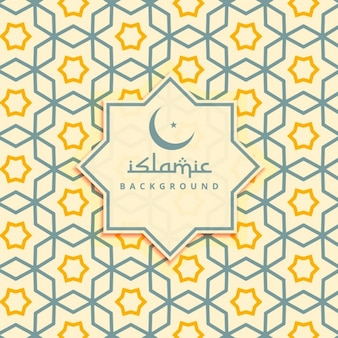 Islamic yellow stars background