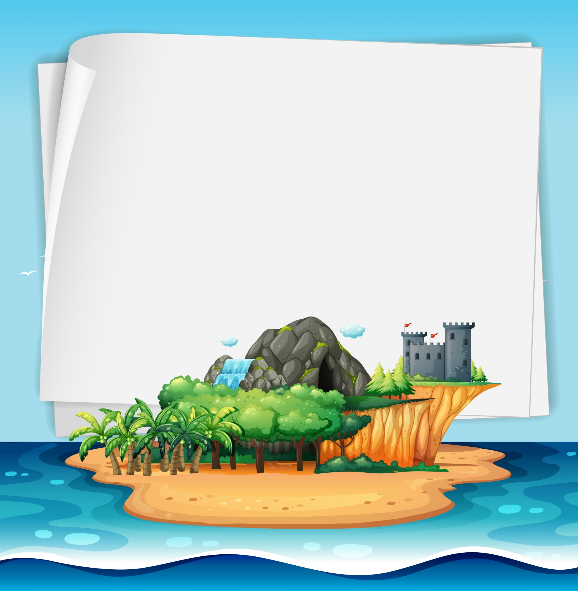 Island and sign
