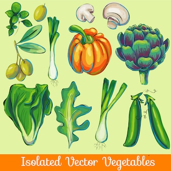 Isolated vegetable collection