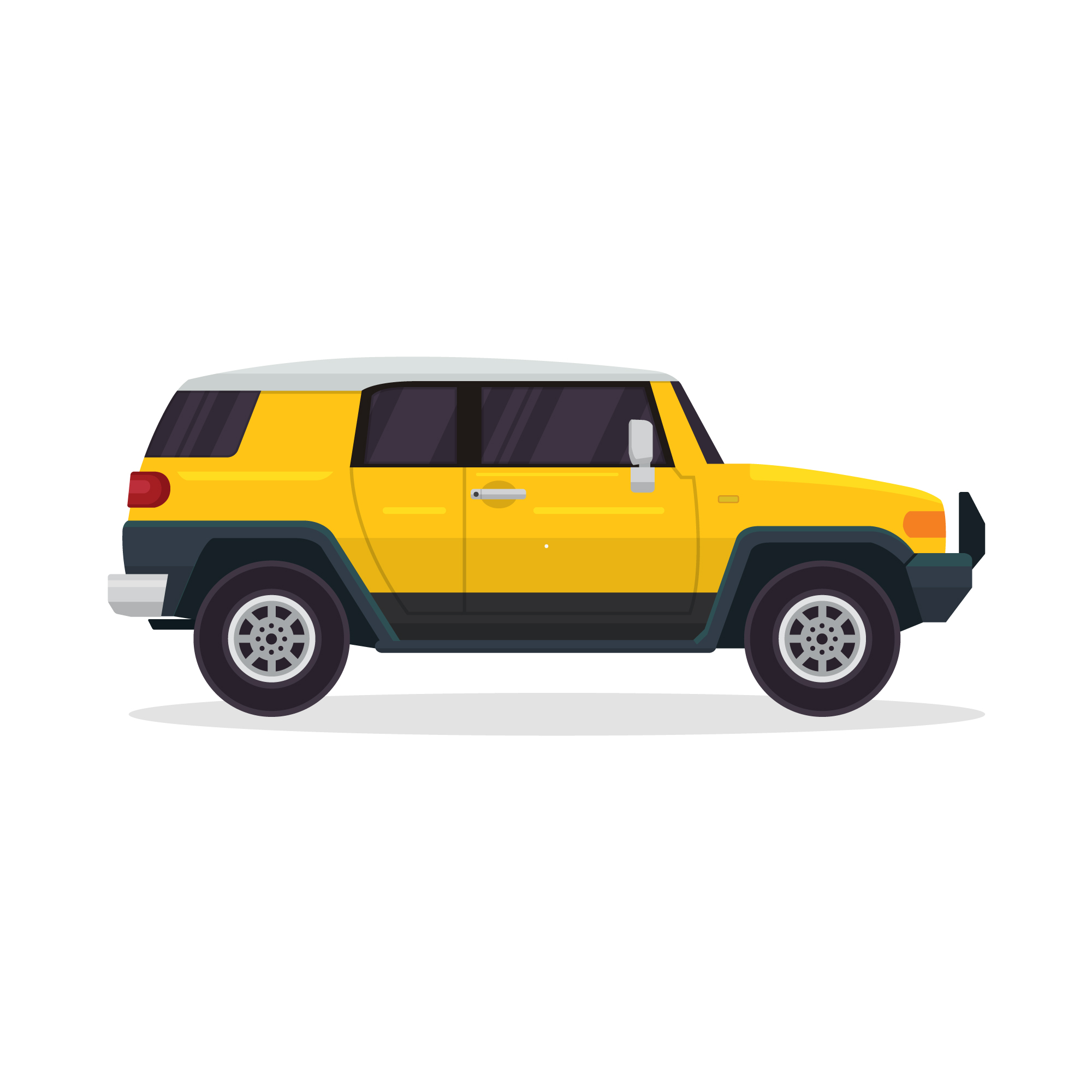 Isolated yellow off road