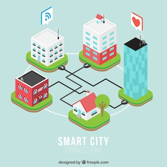 Isometric buildings connected