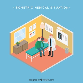 Isometric Health care situation