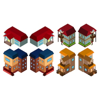 Isometric houses collection