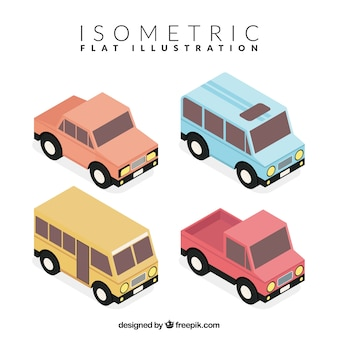 Isometric pack of fantastic vehicles