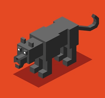 Isometric panther design