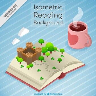 Isometric reading background