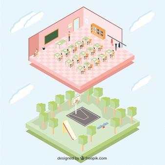 Isometric school