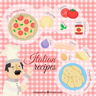 Italian food background design