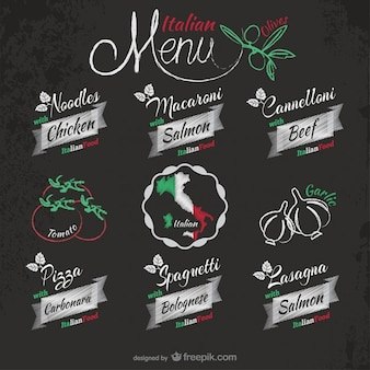 Italian restaurant stickers