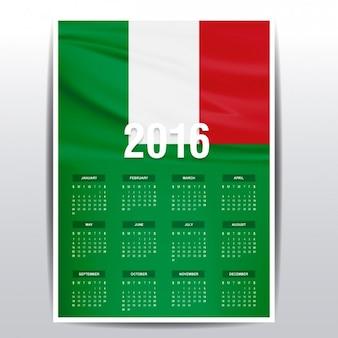 Italy calendar of 2016