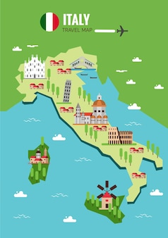 Italy map background