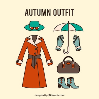 Jacket with other clothes for autumn