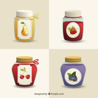 Jam jars icons pack