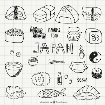 Japanese food and sushi