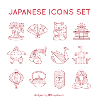 Japanese icons collection