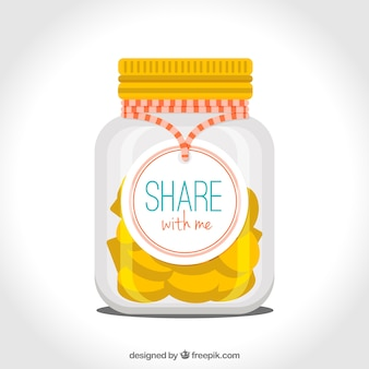 Jar with coins for donation