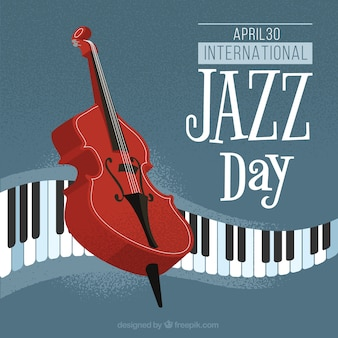 Jazz background with musical instruments
