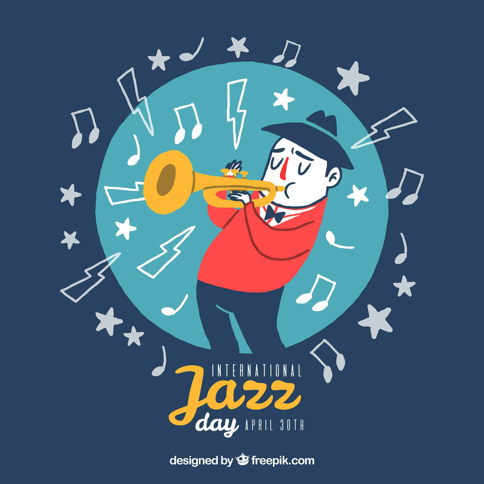 Jazz background with musician