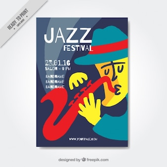 Jazz festival colorful brochure
