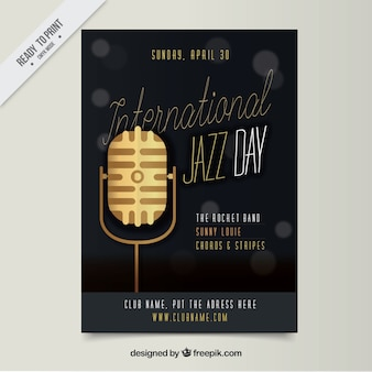 Jazz microphone brochure for jazz event
