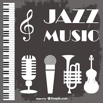 ジャズ音楽ベクトルの背景