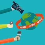 Journalism background design