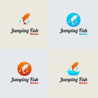 Jumping Fish Vector Logo