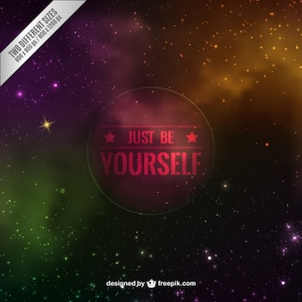Just be yourself background