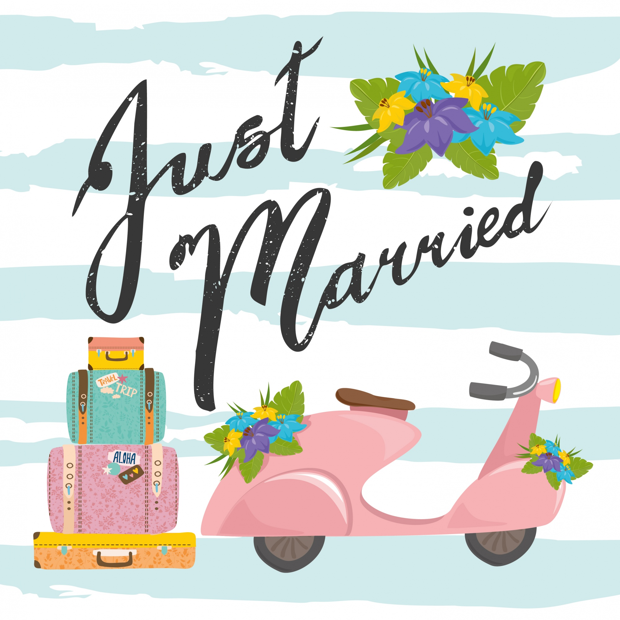Just married background