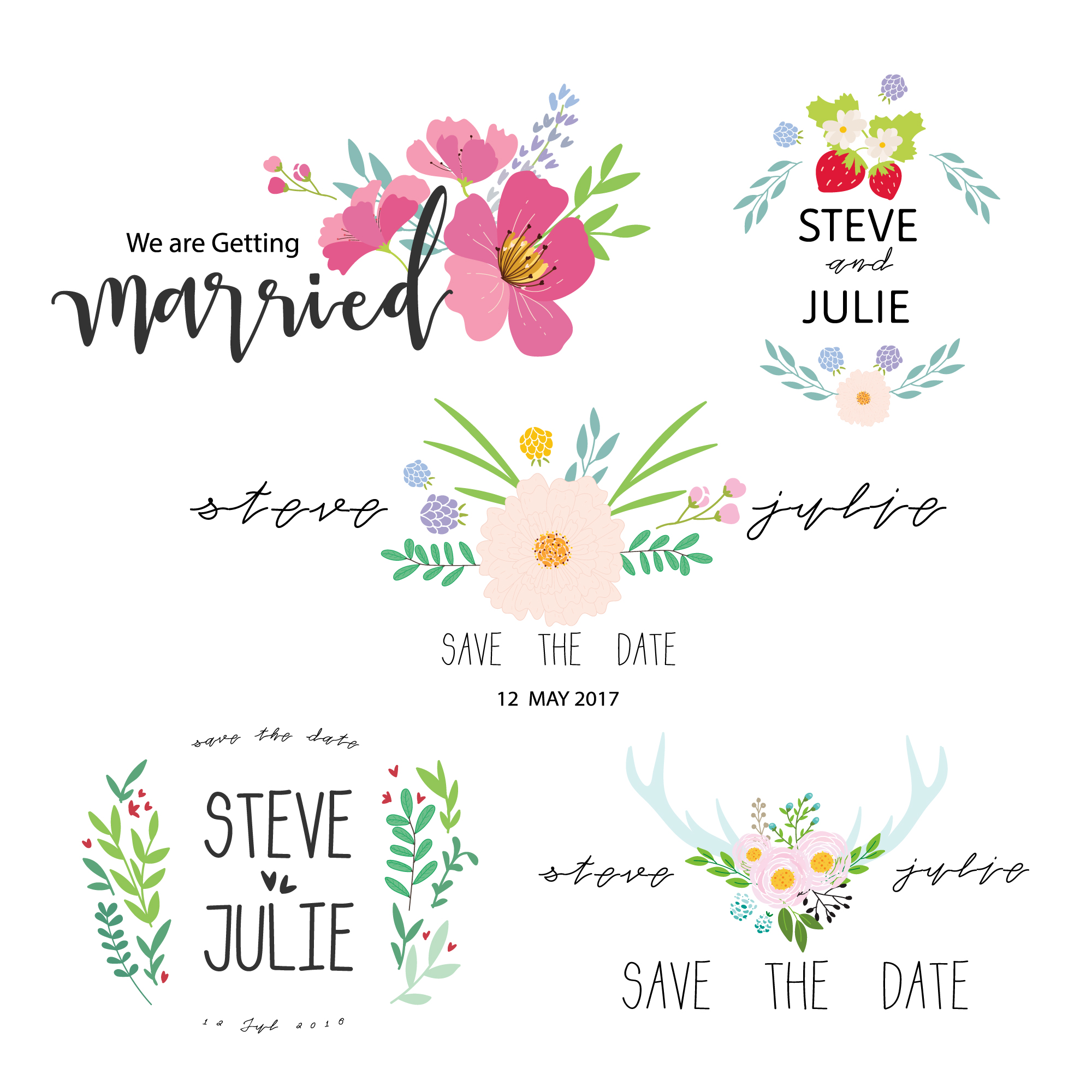 Just married label collection