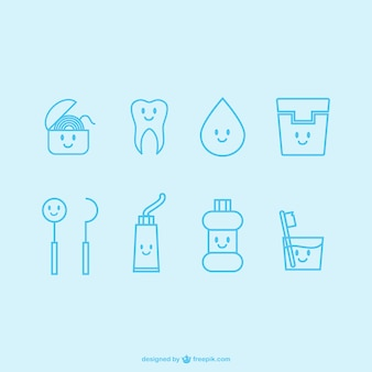 Kawaii dentist icons