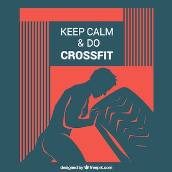 Keep calm crossfit background