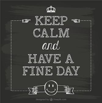 Keep calm greetings card