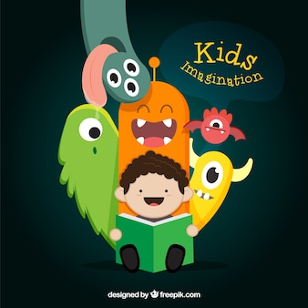 Kid imagination illustration