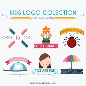 Kids logo set