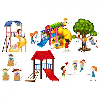 Kids playing set
