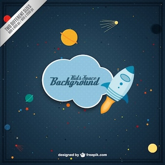 Kids space background