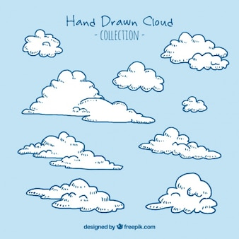 kinds of hand drawn clouds
