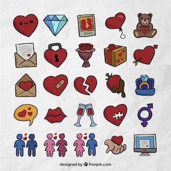 Kinds of valentine icons