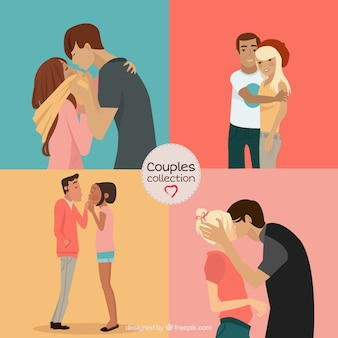 Kisses of couples pack