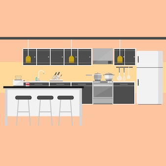 Kitchen background vectors photos and psd files free for Kitchen design vector