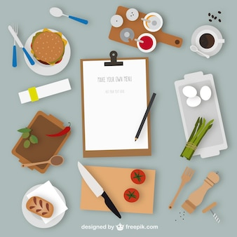 Kitchen elements and menu