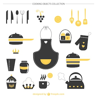 Kitchen graphic elements vector