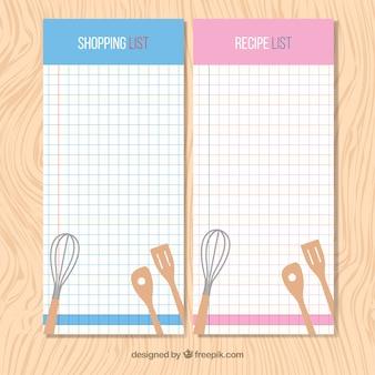 Kitchen shopping list