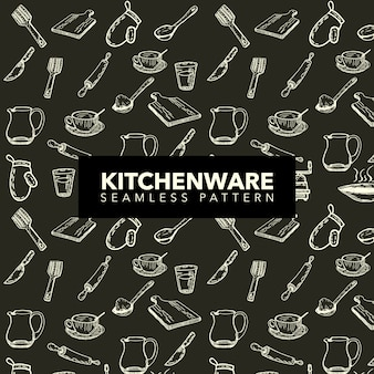 Kitchenware pattern background