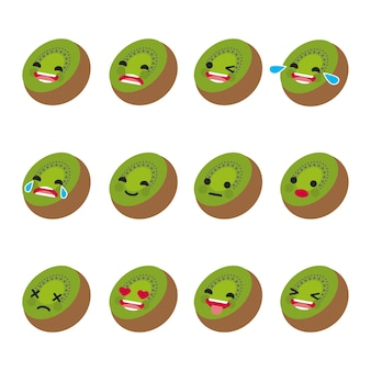 Kiwi facial expressions collection