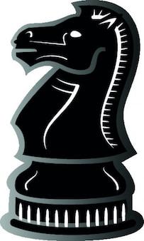 Knight black chess pie...