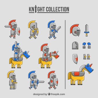 Knight collection with fun style
