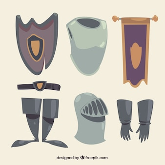 Knight elements with hand drawn style